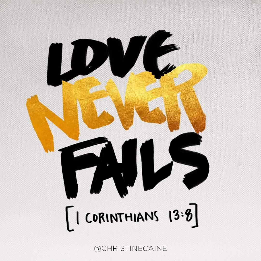 Gods love never fails bible verse